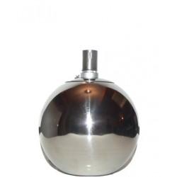 DIMENZA Nerezová petrolejová lampa 15 cm