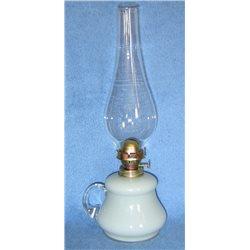 Petrolejová lampa 8''' (světle šedý zvonek)